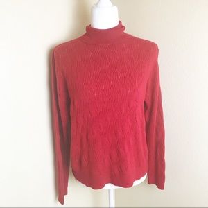Laura Scott petite red knit turtle neck sweater